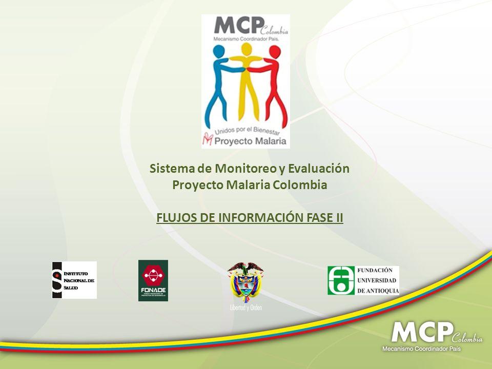 Sistema de Monitoreo y Evaluación Proyecto Malaria Colombia