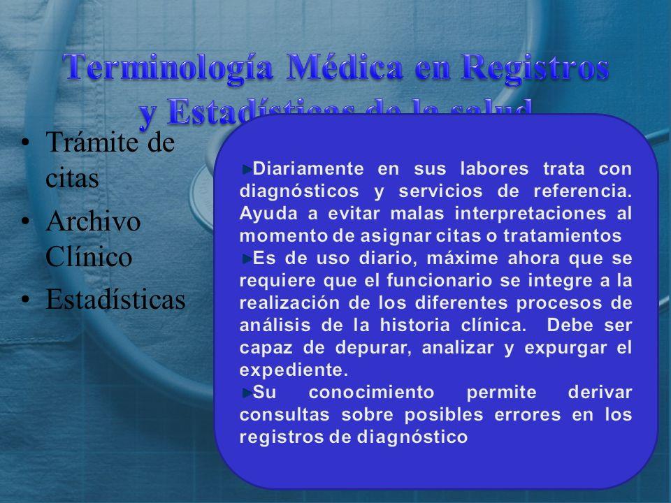 Terminología Médica en Registros y Estadísticas de la salud