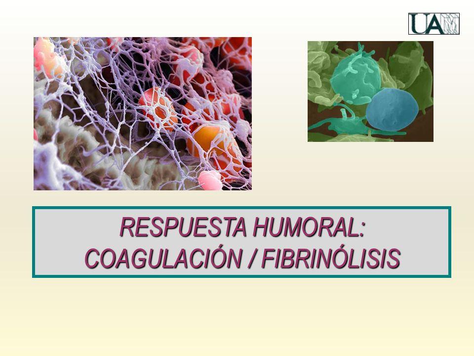 RESPUESTA HUMORAL: COAGULACIÓN / FIBRINÓLISIS