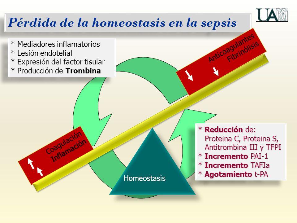 Pérdida de la homeostasis en la sepsis