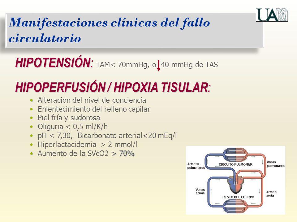 Manifestaciones clínicas del fallo circulatorio