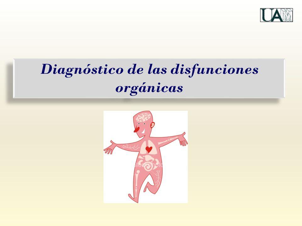 Diagnóstico de las disfunciones orgánicas