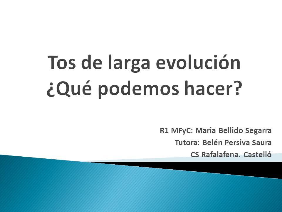 Tos de larga evolución ¿Qué podemos hacer