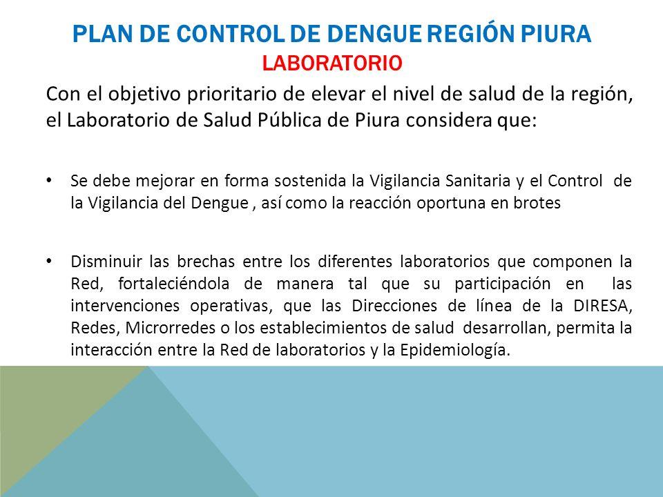 PLAN DE CONTROL DE DENGUE REGIÓN PIURA LABORATORIO