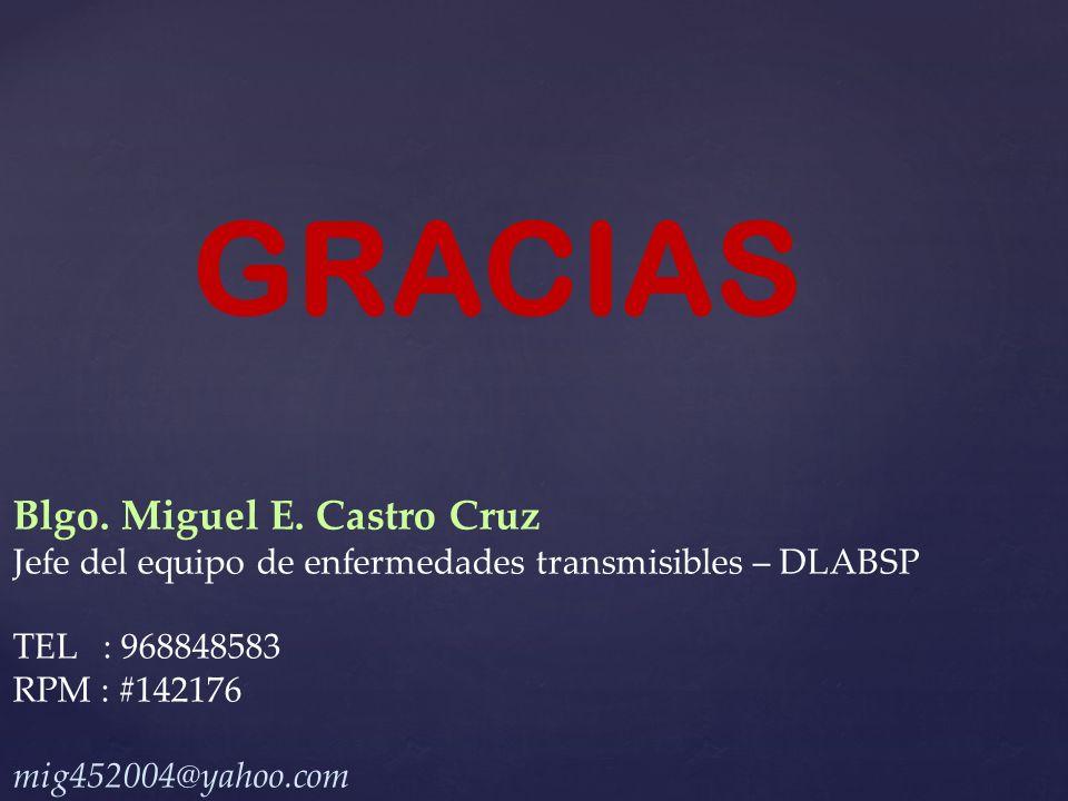 GRACIAS Blgo. Miguel E. Castro Cruz
