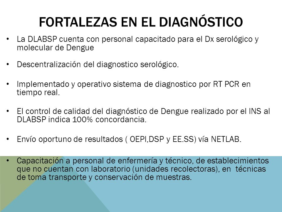 FORTALEZAS EN EL DIAGNÓSTICO