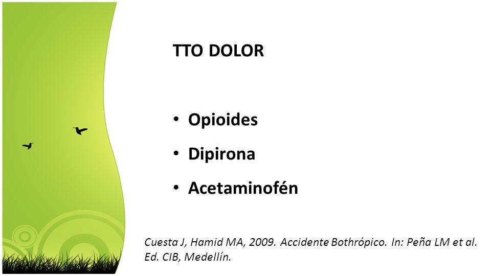 TTO DOLOR Opioides Dipirona Acetaminofén