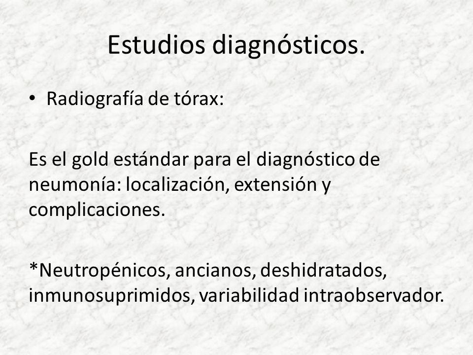 Estudios diagnósticos.