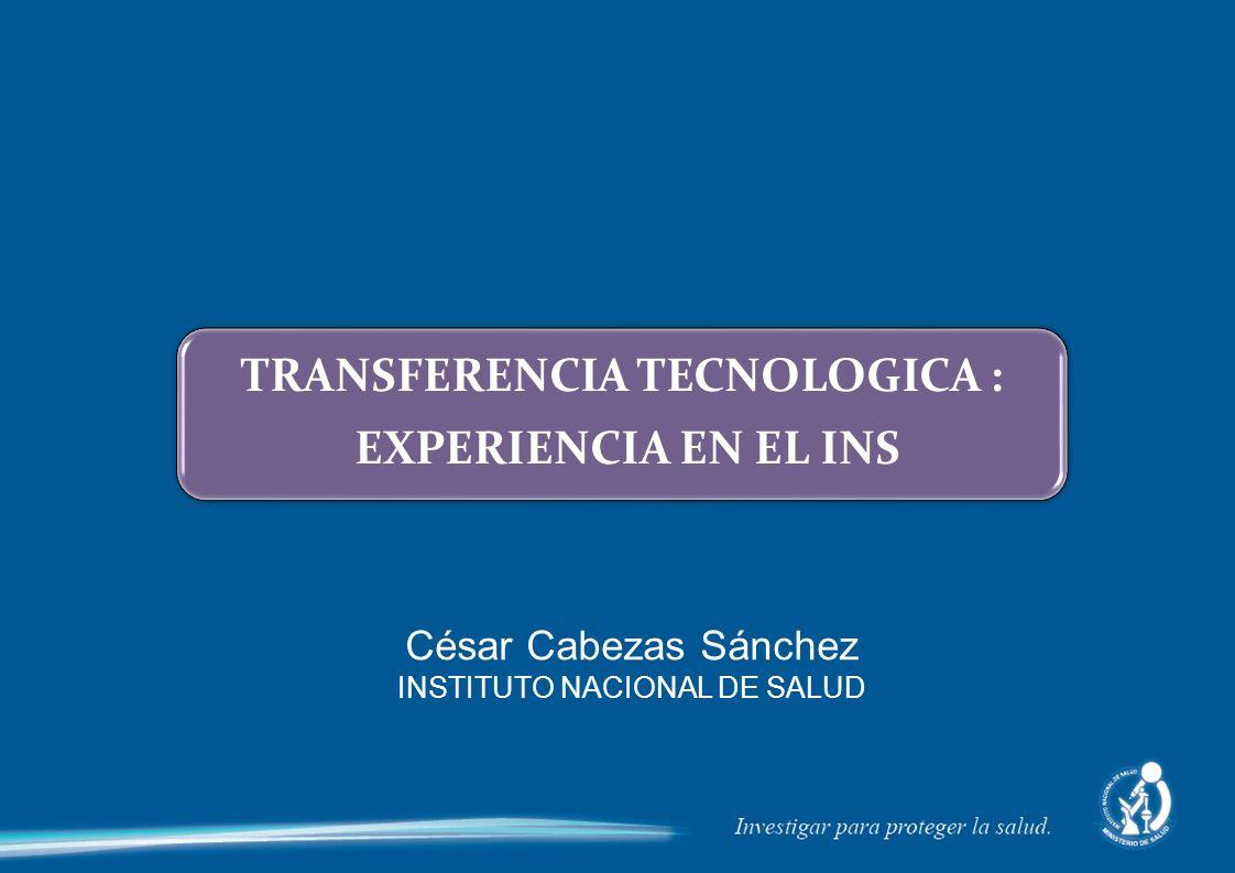 TRANSFERENCIA TECNOLOGICA :