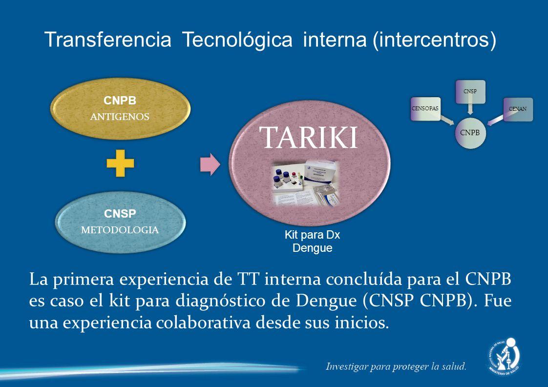Transferencia Tecnológica interna (intercentros)