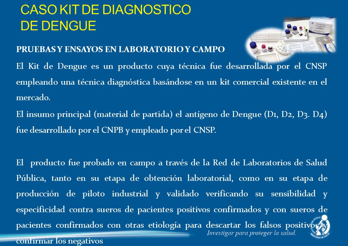 CASO KIT DE DIAGNOSTICO DE DENGUE