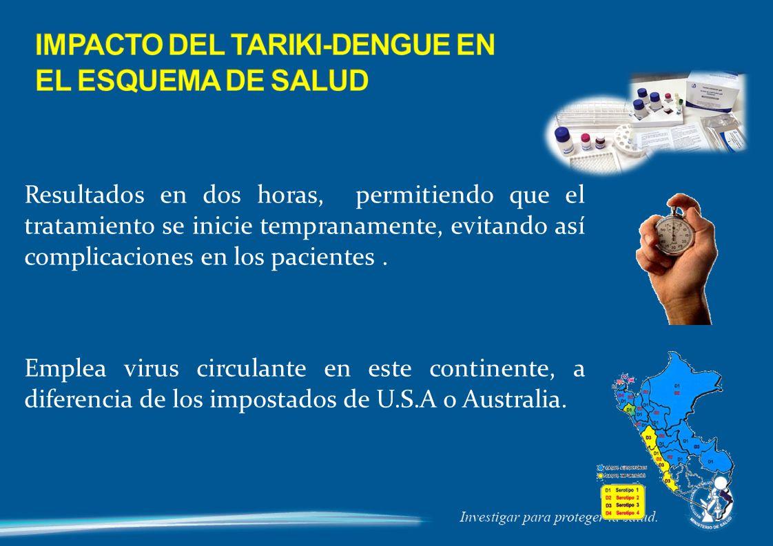 IMPACTO DEL TARIKI-DENGUE EN EL ESQUEMA DE SALUD