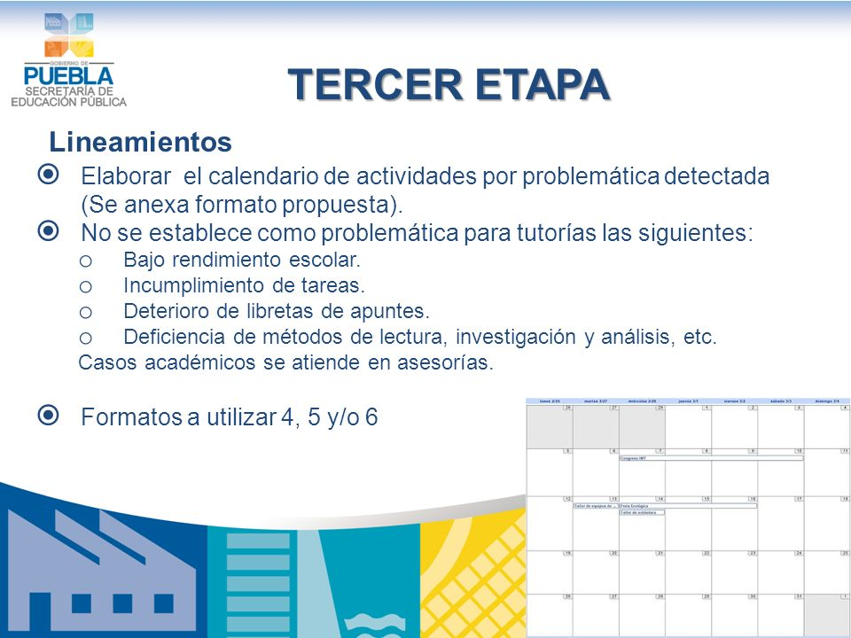 TERCER ETAPA Lineamientos