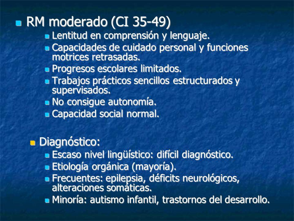 RM moderado (CI 35-49) Diagnóstico:
