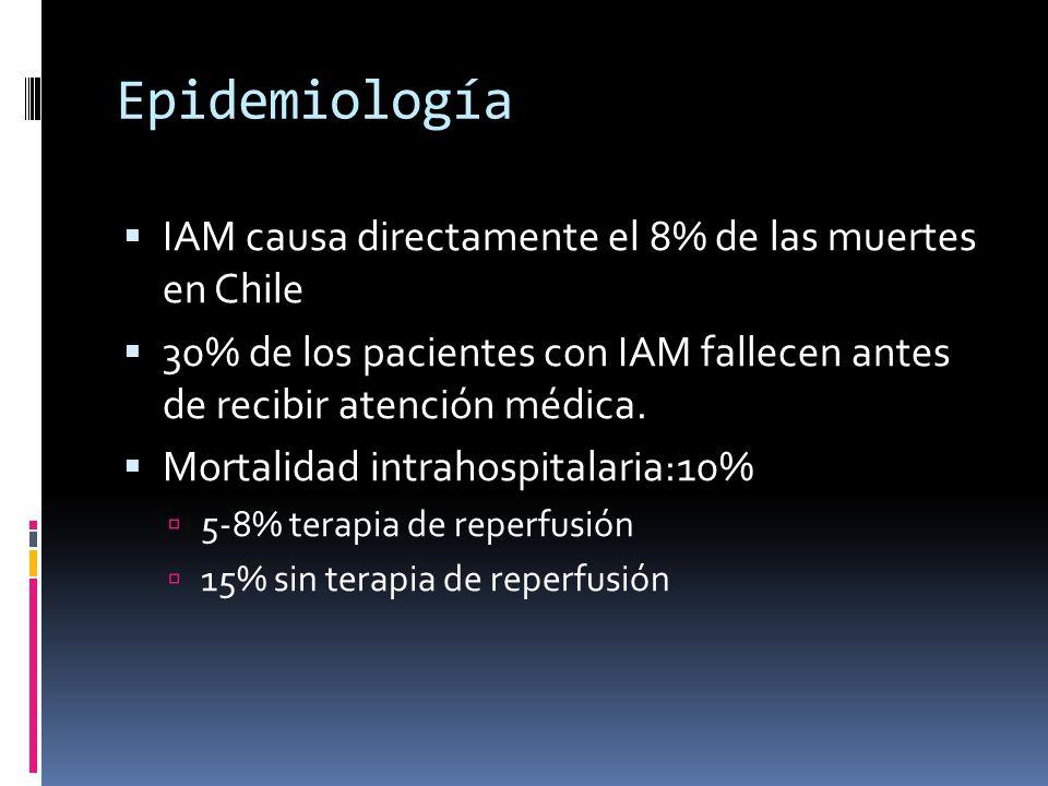 Epidemiología IAM causa directamente el 8% de las muertes en Chile