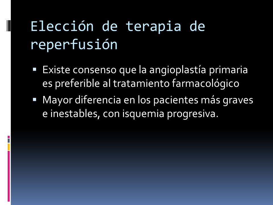 Elección de terapia de reperfusión