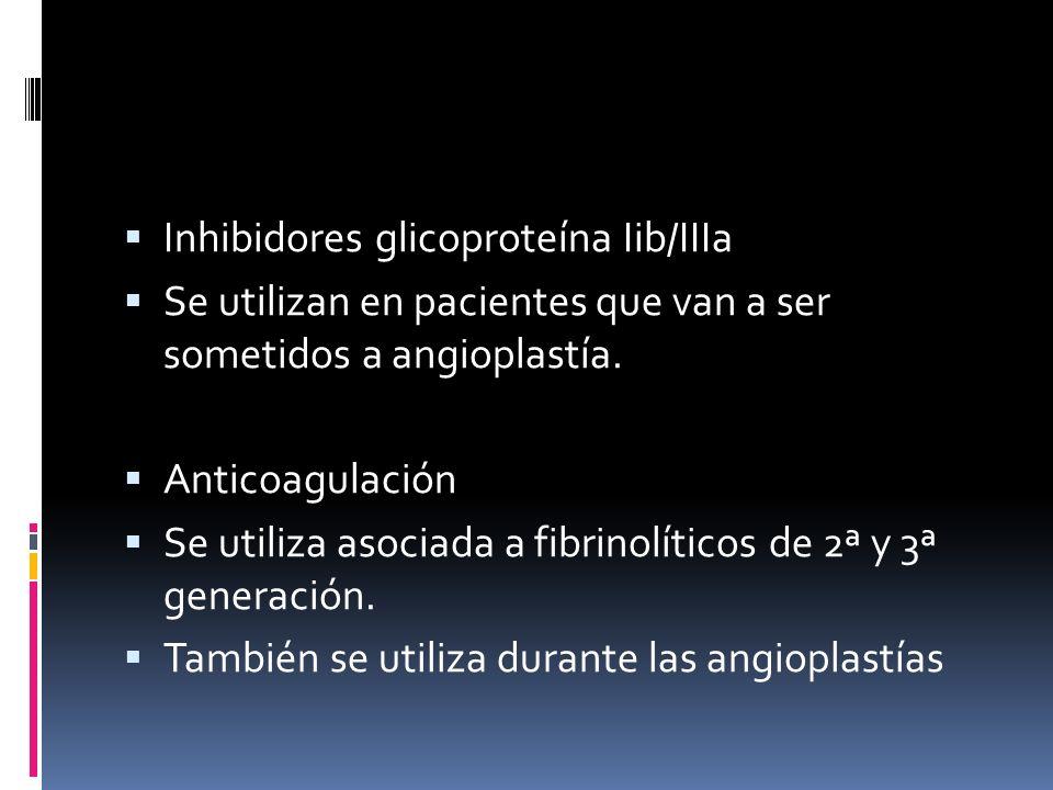 Inhibidores glicoproteína Iib/IIIa