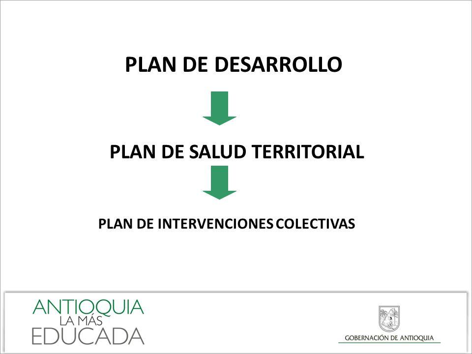 PLAN DE INTERVENCIONES COLECTIVAS