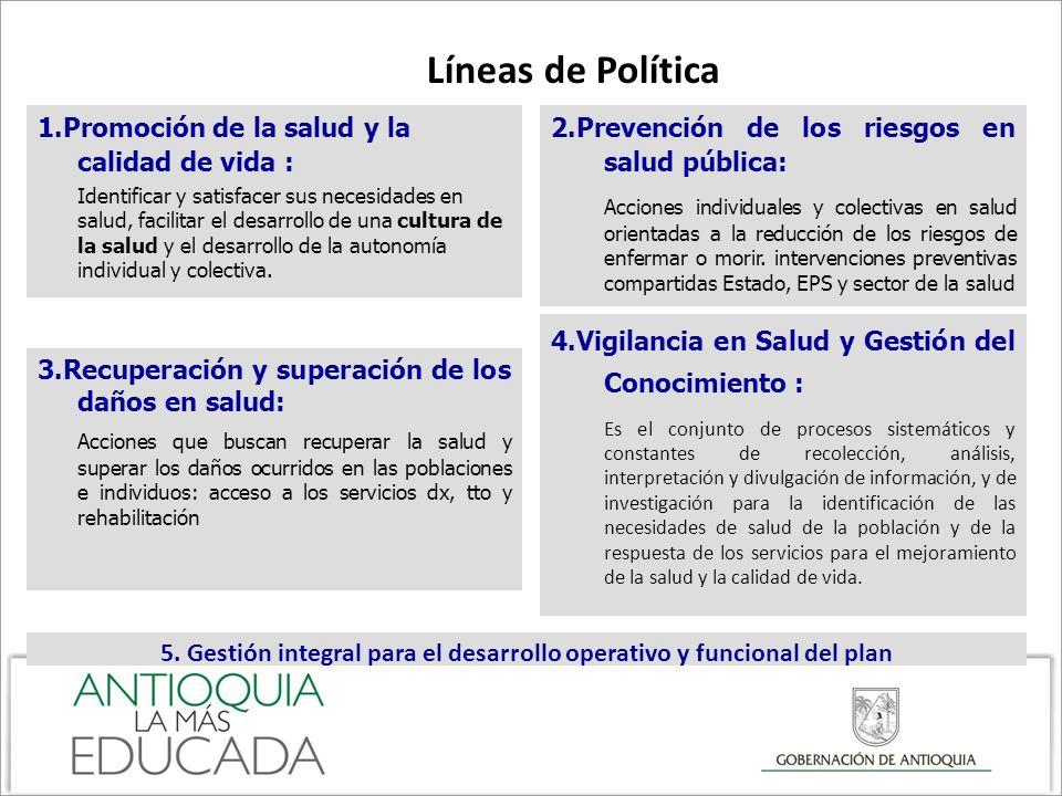 5. Gestión integral para el desarrollo operativo y funcional del plan
