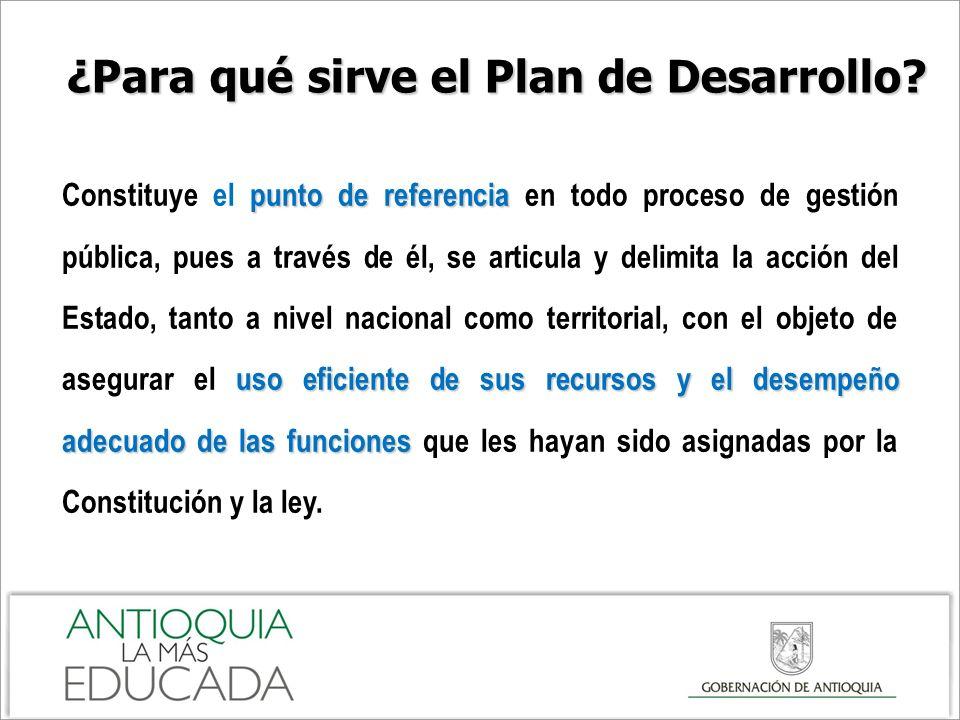 ¿Para qué sirve el Plan de Desarrollo