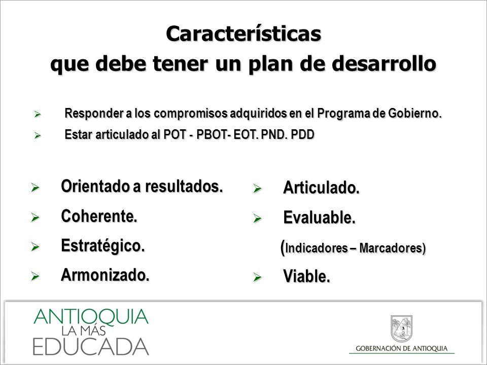 Características que debe tener un plan de desarrollo