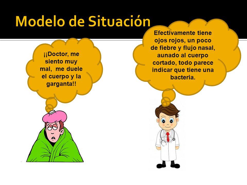 ¡¡Doctor, me siento muy mal, me duele el cuerpo y la garganta!!