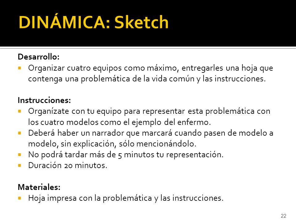 DINÁMICA: Sketch Desarrollo:
