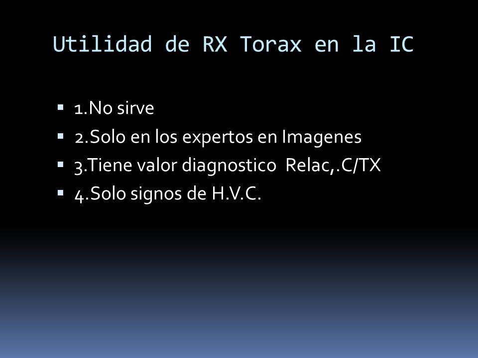 Utilidad de RX Torax en la IC
