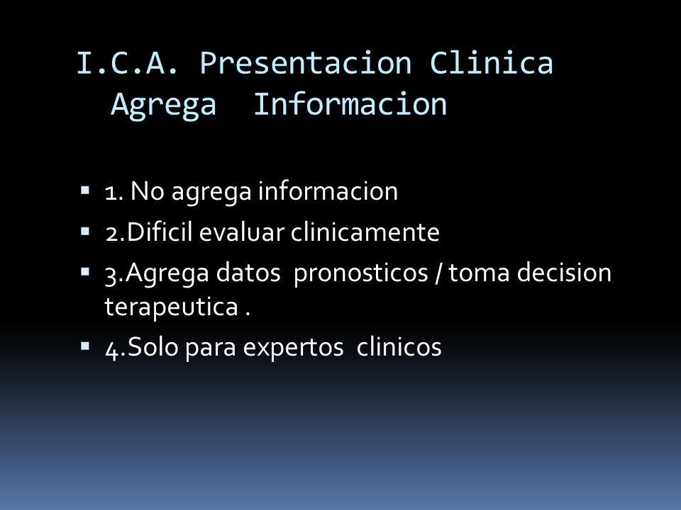 I.C.A. Presentacion Clinica Agrega Informacion