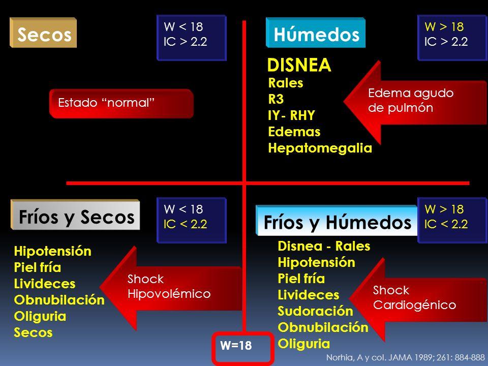 Secos Húmedos DISNEA Fríos y Secos Fríos y Húmedos Rales R3 IY- RHY