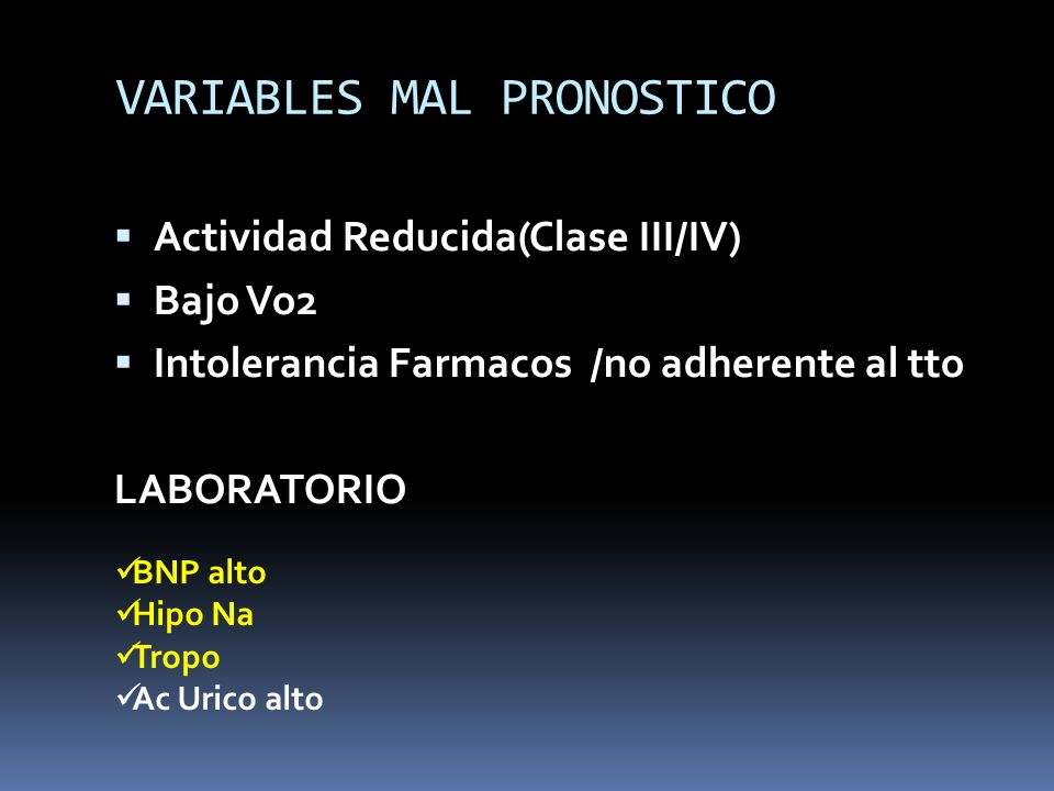 VARIABLES MAL PRONOSTICO