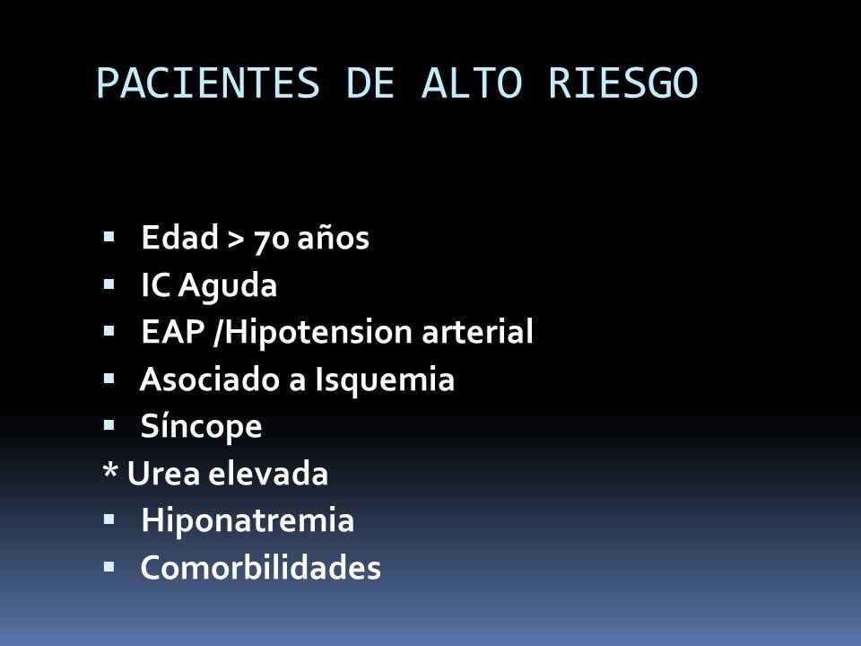 PACIENTES DE ALTO RIESGO