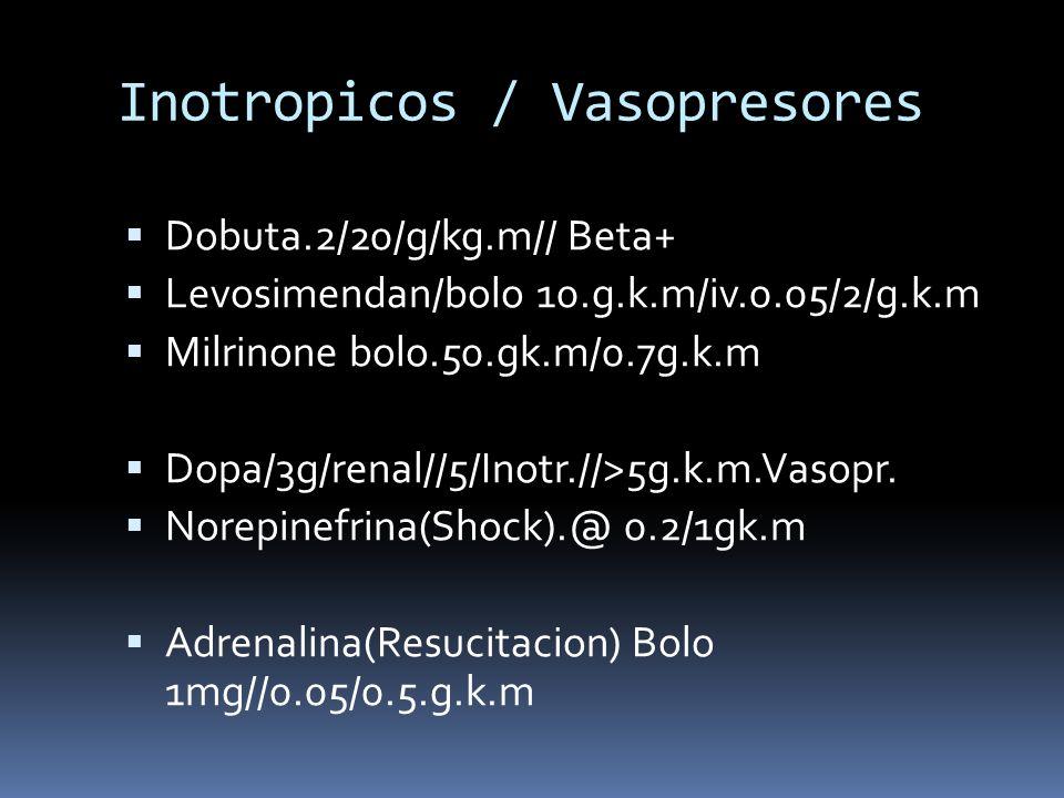 Inotropicos / Vasopresores