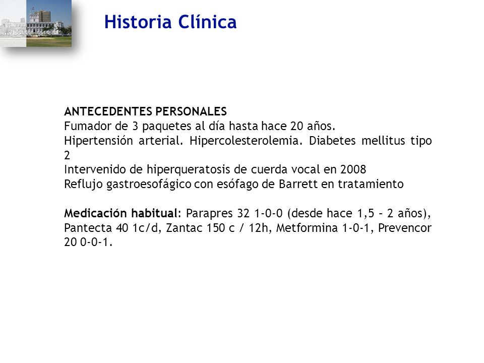 Historia Clínica ANTECEDENTES PERSONALES