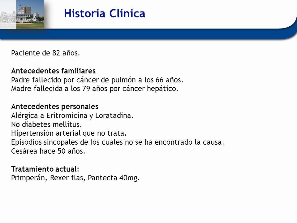 Historia Clínica Paciente de 82 años. Antecedentes familiares
