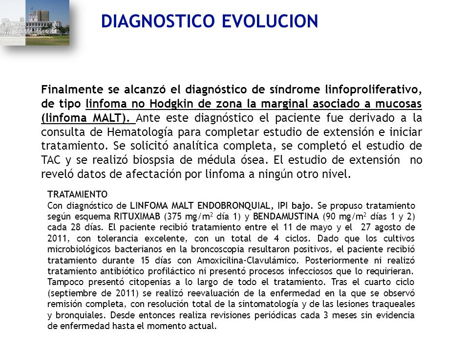 DIAGNOSTICO EVOLUCION
