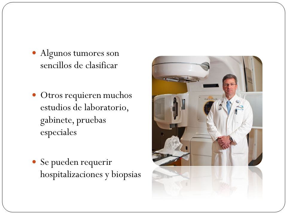 Algunos tumores son sencillos de clasificar