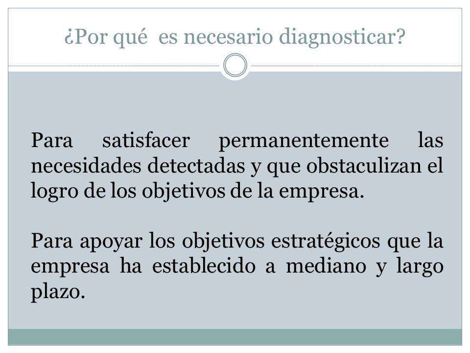 ¿Por qué es necesario diagnosticar