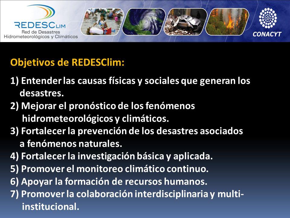 Objetivos de REDESClim: