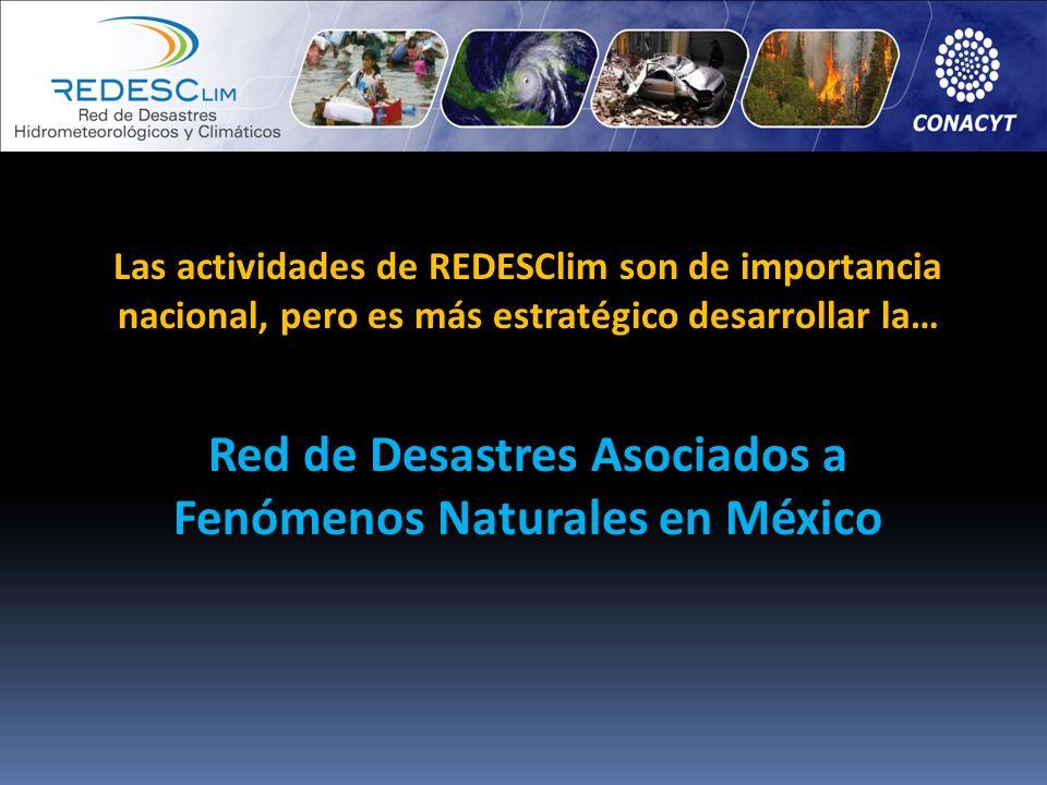 Red de Desastres Asociados a Fenómenos Naturales en México