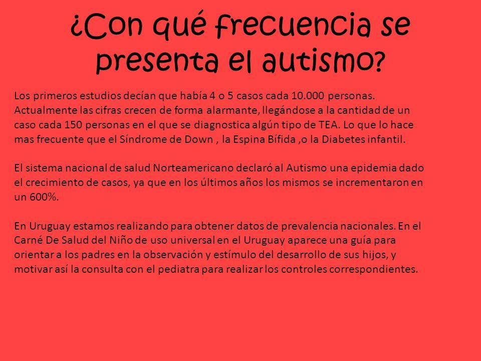 ¿Con qué frecuencia se presenta el autismo