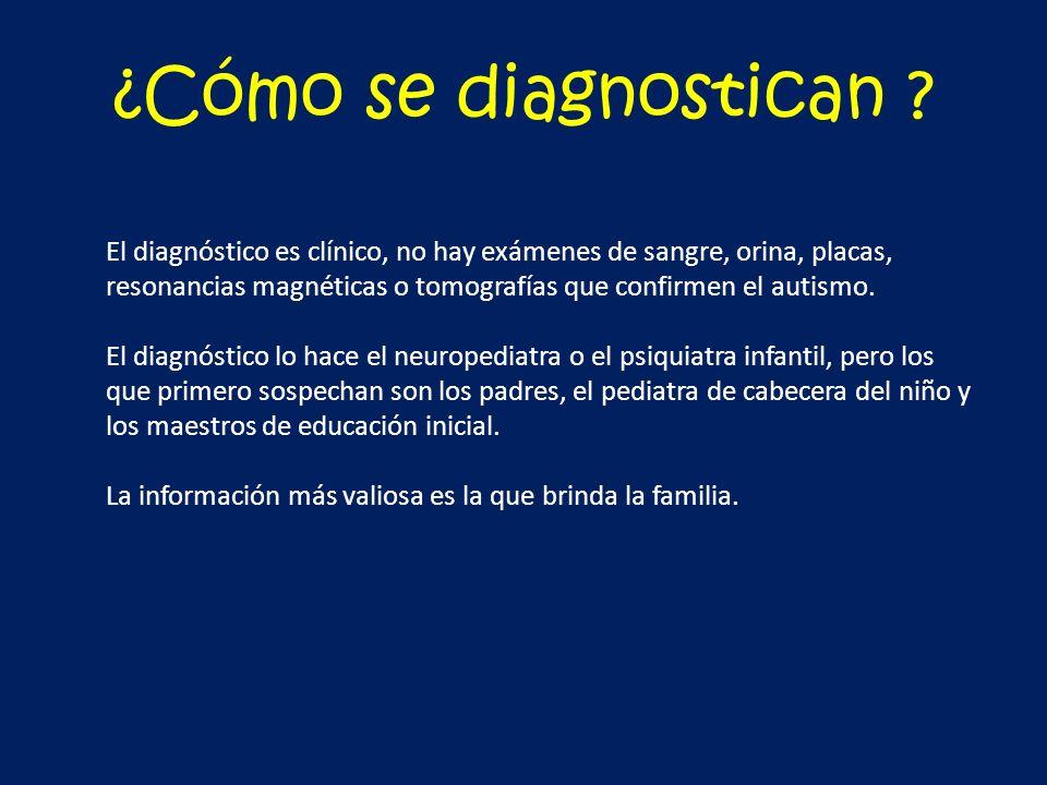 ¿Cómo se diagnostican