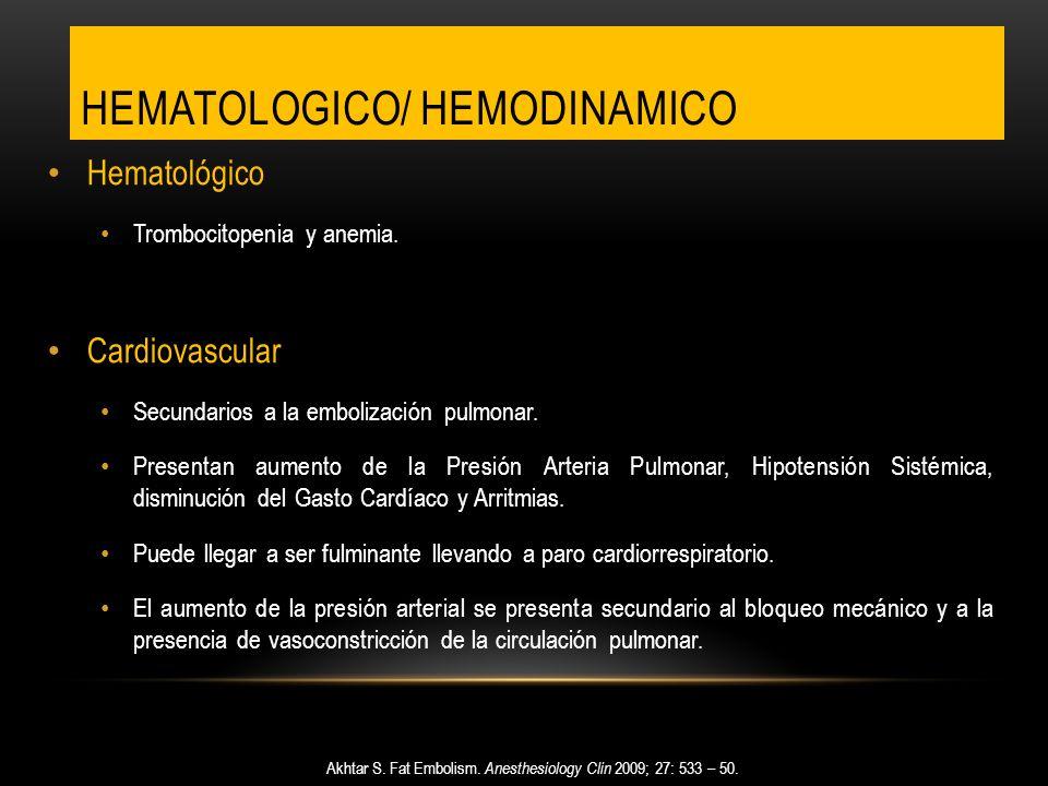Hematologico/ hemodinamico