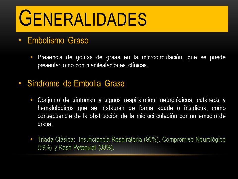 Generalidades Embolismo Graso Síndrome de Embolia Grasa