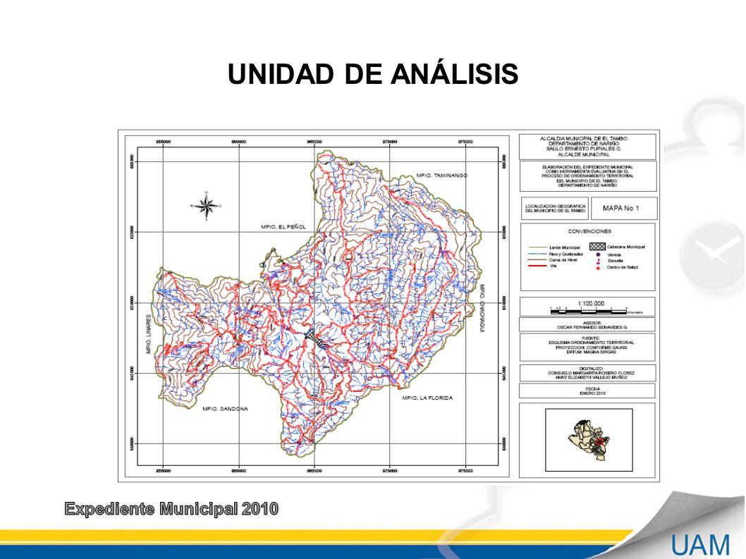 UNIDAD DE ANÁLISIS Expediente Municipal 2010