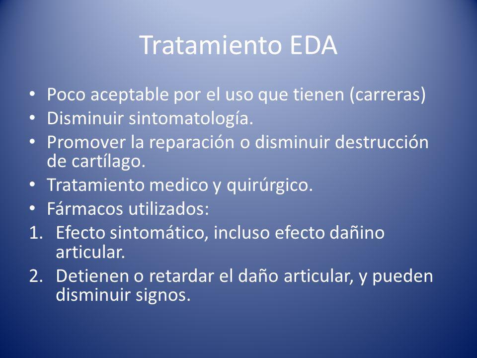 Tratamiento EDA Poco aceptable por el uso que tienen (carreras)