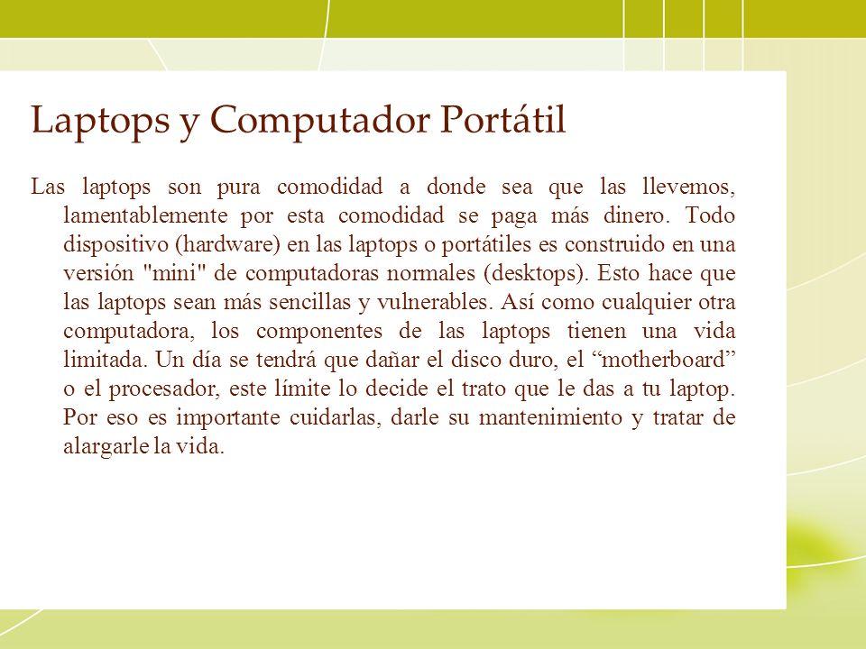 Laptops y Computador Portátil