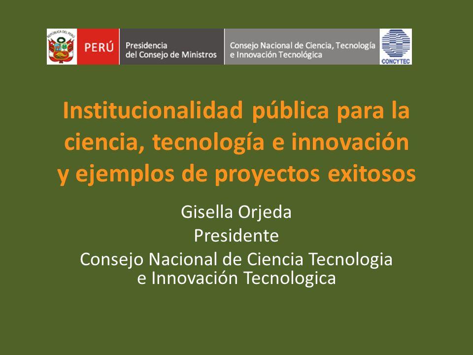Consejo Nacional de Ciencia Tecnologia e Innovación Tecnologica