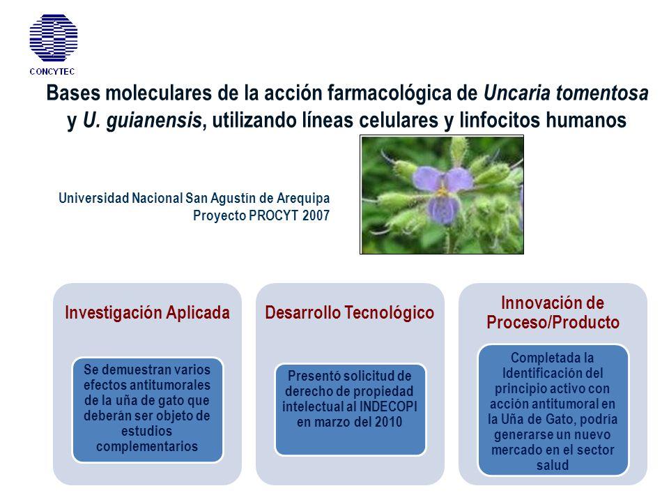 Bases moleculares de la acción farmacológica de Uncaria tomentosa y U
