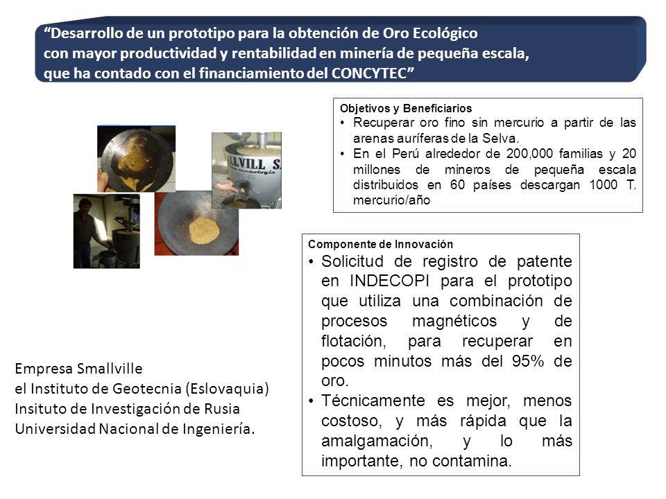 Desarrollo de un prototipo para la obtención de Oro Ecológico